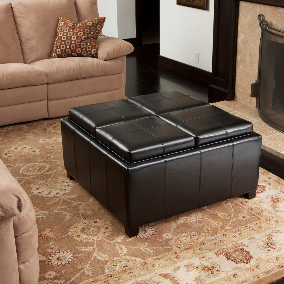 square storage ottoman Living Room Contemporary with black ottoman bonded leather coffee table contemporary living room square storage ottoman