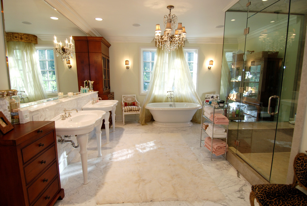 St Thomas Creations Bathroom Traditional With Rug Ceiling Lighting Chandelier Shades Crown Molding Double
