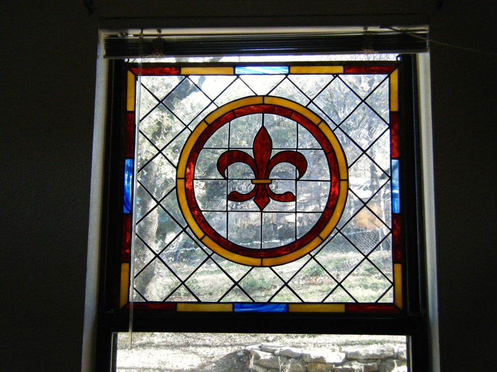 Stained Glass Window Panels Living Room Traditional with Colorful Accents Colorful Art Fleur De Lis Privacy Stained Glass Panels Traditional
