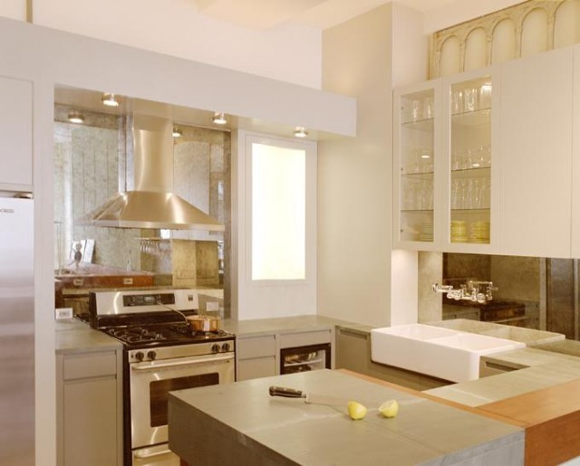 Stainless Steel Range Hood Kitchen Contemporary With Cooktop Hood Oven Pan  Recessed Lighting