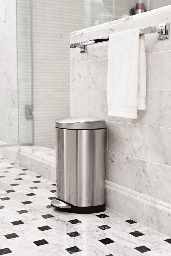 Stainless Steel Trash Cans Bathroom Contemporary with Bathroom Simplehuman Stainless Steel Trash Can