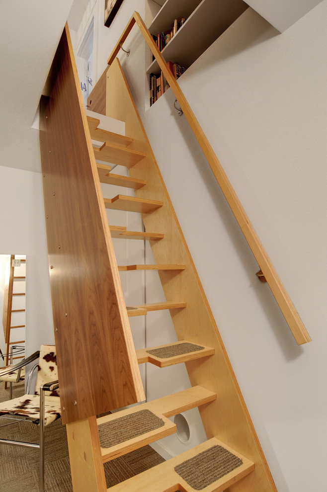 Stair Treads Staircase Contemporary with Built in Bookshelves Compact Staircase Ladder Staircase Loft Wall Mounted Handrail White Walls