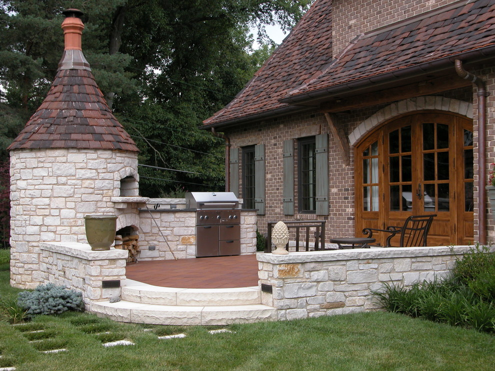 Staub Dutch Oven Patio Traditional with Arched Door Backdoor Bbq Brick House Brick Oven Fire Oven French Doors