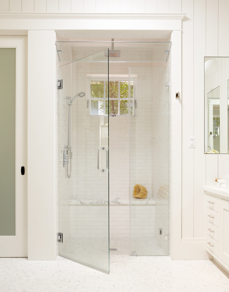 Steam Shower Kit Bathroom Transitional With Glass Door Glass