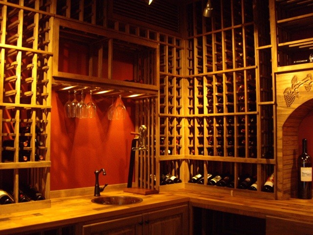 Stemware Rack Wine Cellar Traditional with Custom Wine Cellar Custom Wine Cellar Louisiana