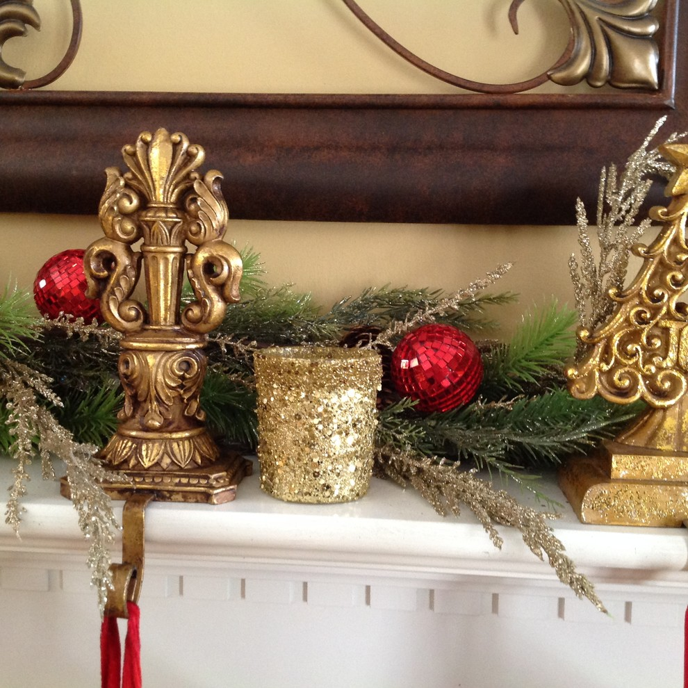 Stocking Holders Living Room Traditional with Glitter High Point Nc Mantle Red Stocking Holders