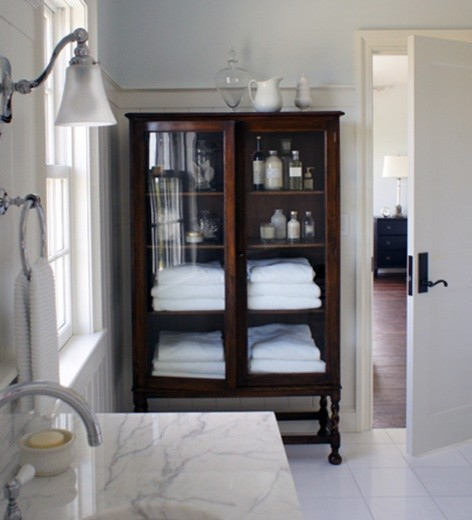 Storage Armoire Bathroom Traditional with None