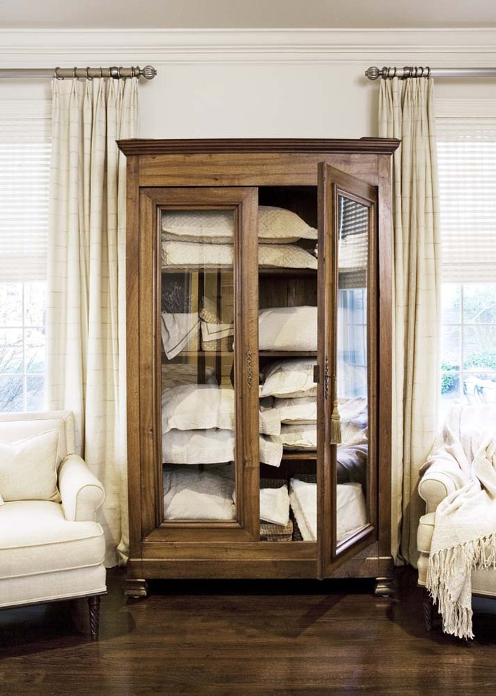 Storage Armoire Bedroom Traditional with Armoire Bedroom Casegoods Eclectic Furniture Linen Linens Master Master Bedroom Neutral Storage