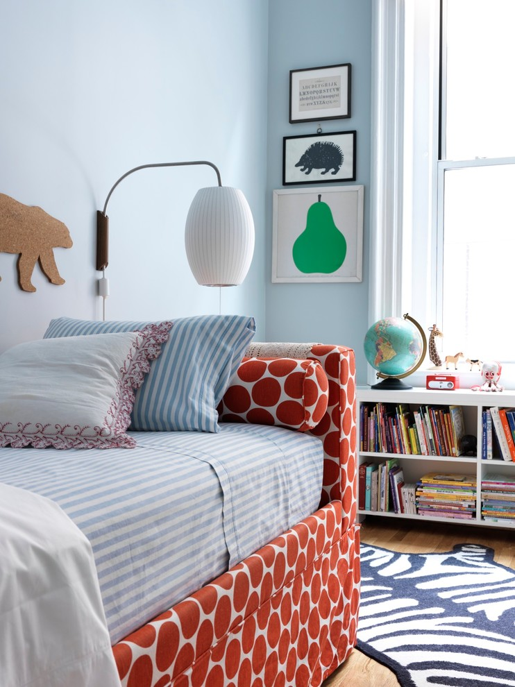 Striped Sheets Kids Transitional with Blue Blue Walls Daybed Girls Room Globe Japanese Lantern Kids Room Nelson