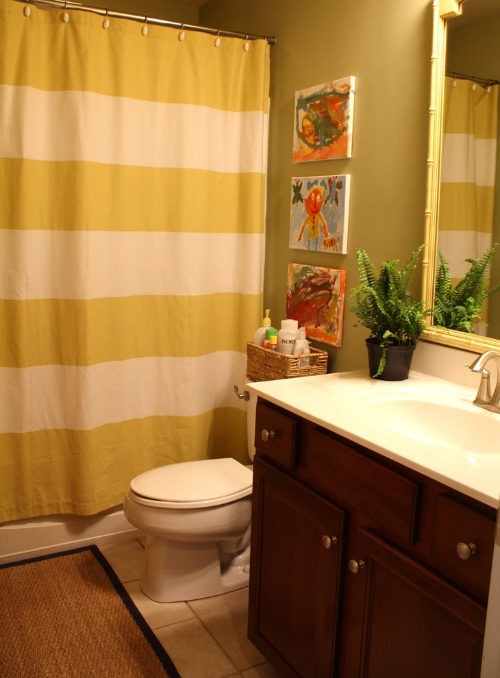 Striped Shower Curtain Kids Traditional with None