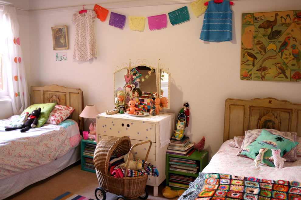 stroller covers Kids Shabby chic with Bedroom bookcase bookshelves bunting chest of drawers dresser garland papel-picado toy storage