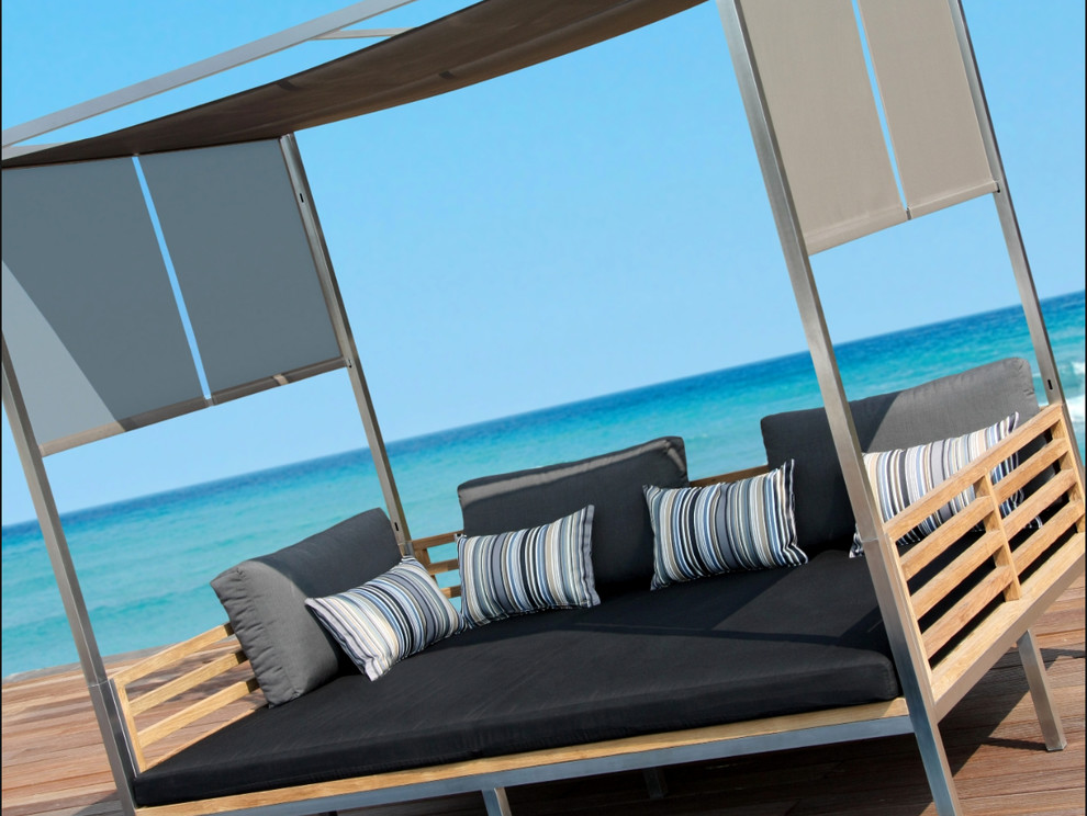 sunbrella outdoor cushions Spaces with Allux Club 2 Seater Sofa features clean lines and premium ma and