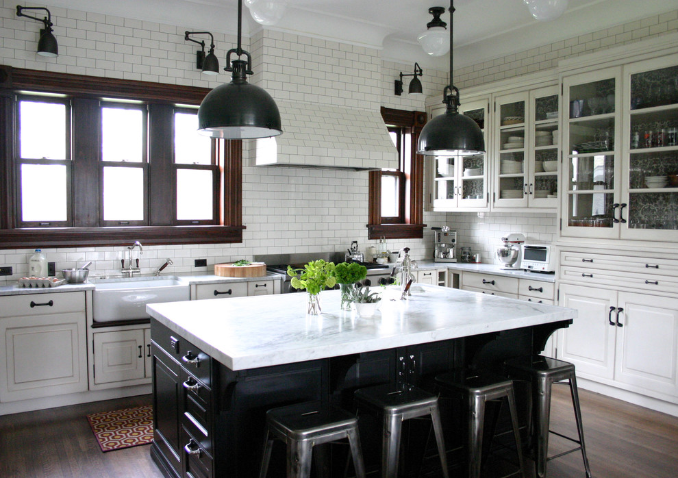 Swing Arm Sconce Kitchen Traditional with Black Farmhouse Sink Glass Front Cabinets Kitchenaid Mixer Marais Stools Pendant Lights