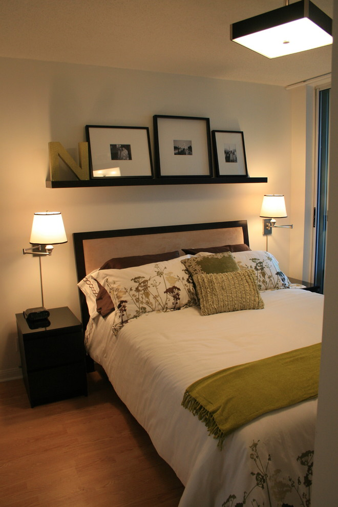 swing arm wall sconce Bedroom Contemporary with the befores afters