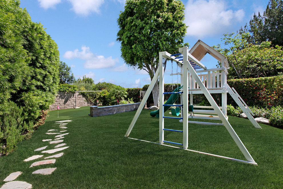 Swingset Parts Kids Mediterranean with Pathway Play Structure Playset Putting Greens Slide Stepping Stones Swingset Walkway