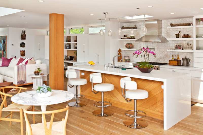 Swivel Bar Stools with Back Kitchen Modern with None