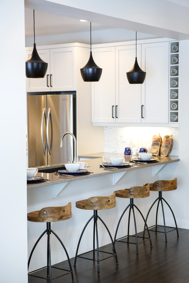 Swivel Bar Stools with Backs Kitchen Contemporary with Arteriors Stools Beige Countertop Black Pendant Light Calgary Interior Design Calgary Interior