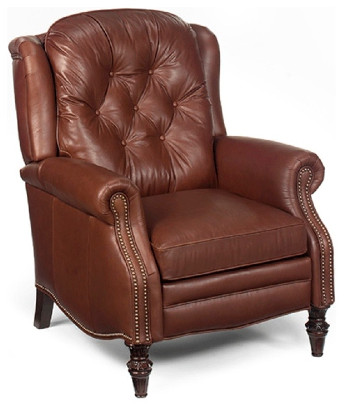 Swivel Rocker Recliner Living Room Traditional with American Made Furniture Chaise Lounge Custom Leather Furniture Leather Club Chair Recliner