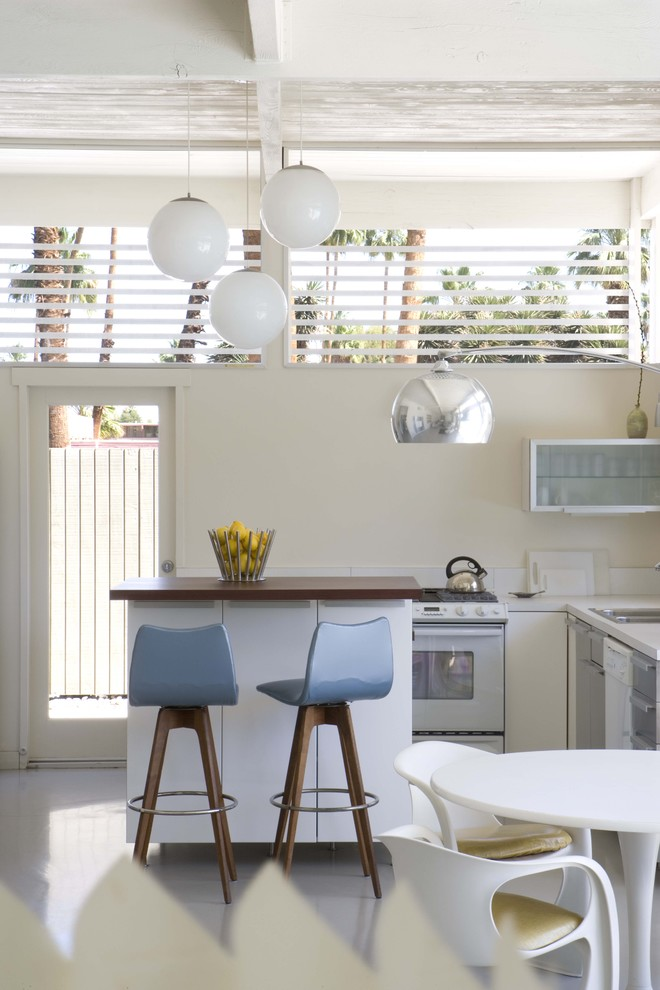 Swivel Stool Kitchen Midcentury with Barstool Bright Ceiling Light Chair Frosted Glass Glossy Floor Great Room Kitchen