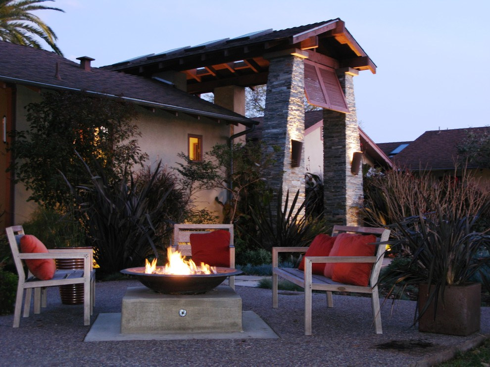 tabletop fire bowl Landscape Contemporary with container plants decorative pillows exposed beams fire bowl outdoor cushions outdoor fire