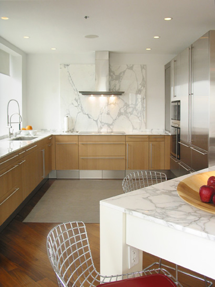 Tall Bookcase Kitchen Contemporary with Breakfast Bar Ceiling Lighting Eat in Kitchen Kitchen Table Minimal Range Hood
