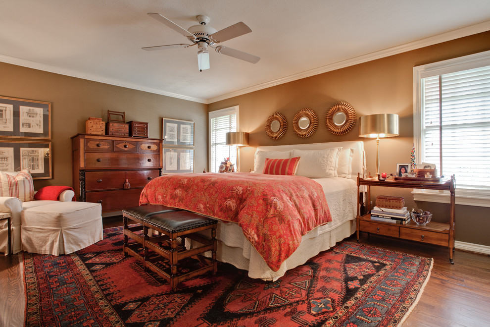 tall dressers Bedroom Transitional with antiques area rug Bedroom bedside table brown ceiling fan chest of drawers