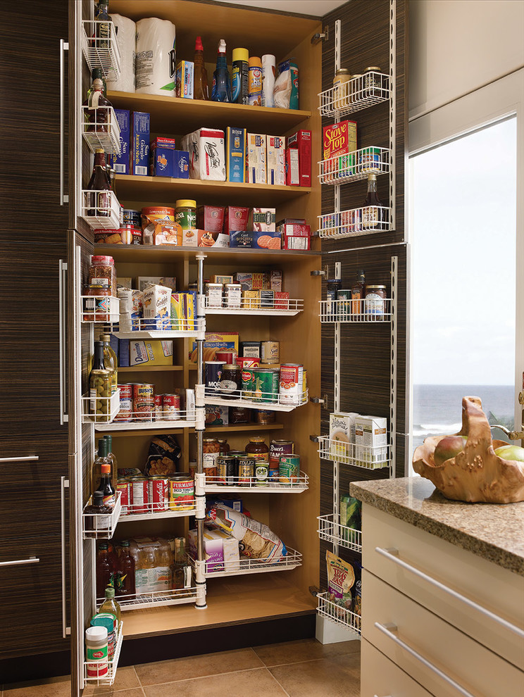 tall pantry cabinet Kitchen Contemporary with Chef's Pantry emergency preparedness food storage kitchen organizers kitchen pantry kitchen storage