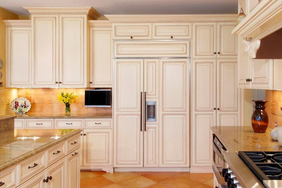 Tall Pantry Cabinet Kitchen Traditional with Appliance Panels Cabinet Front Refrigerator Corbel Custom Footed Cabinets Full Overlay Glazed