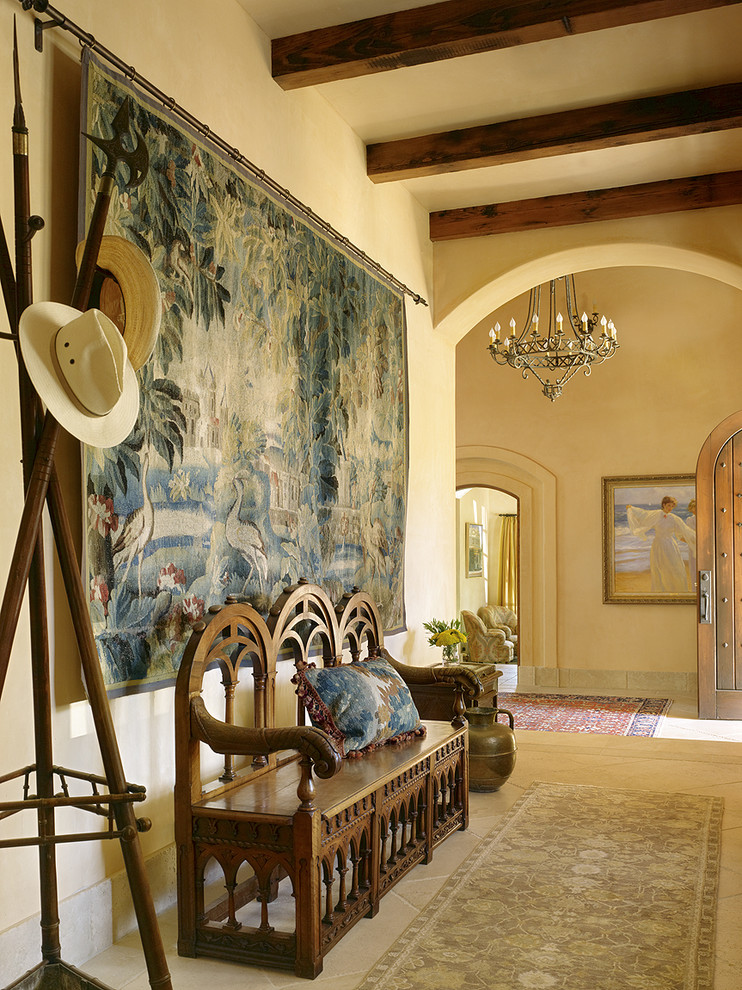 tapestries for sale Hall Mediterranean with archway coat rack decorative wall tapestry entry bench exposed beams hat stand