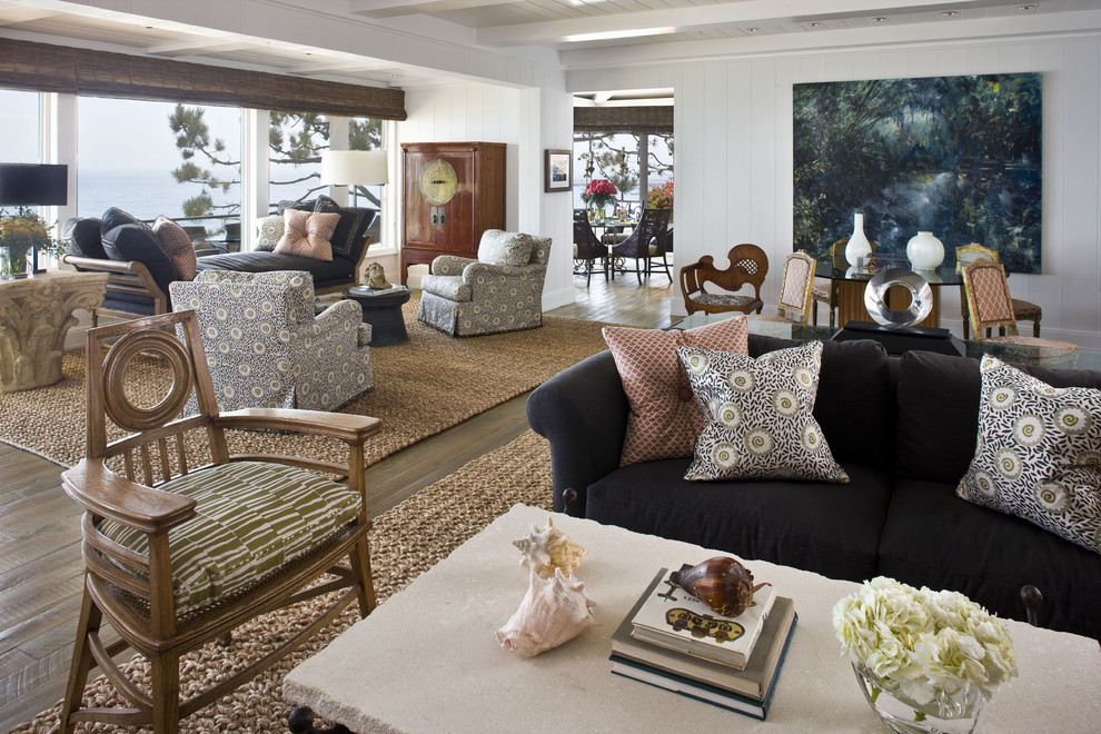 Tayse Rugs Living Room Contemporary with Anaheim Area Rug Artwork Beach Home Beach House Coastal Living Living Room