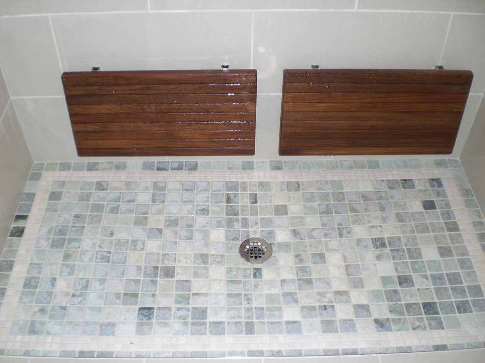 teak-benches-Bathroom-Contemporary-with-bench-collapsible-shower ...