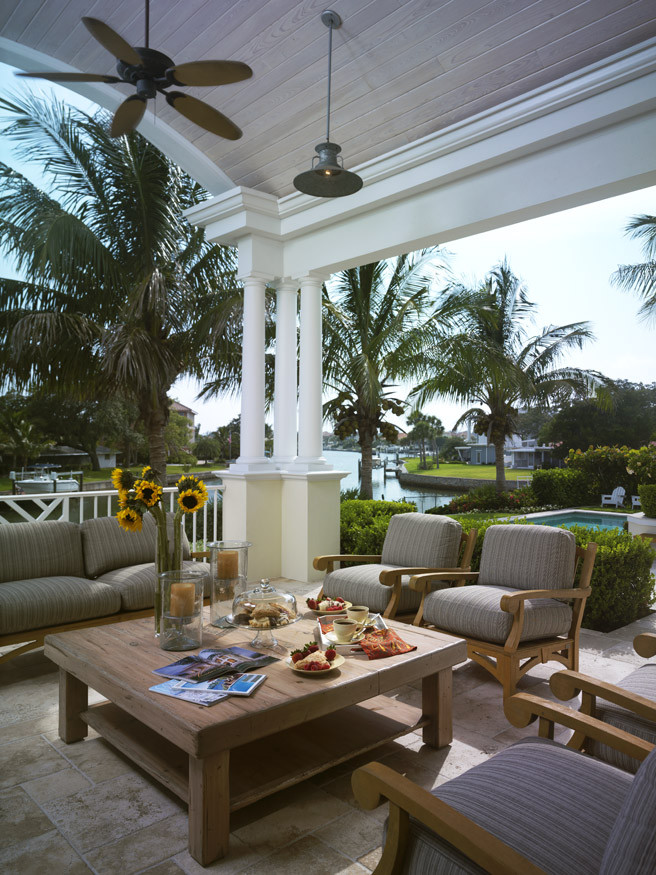 Teak Outdoor Furniture Porch Traditional with Lanai Outdoor Space Patio Porch Tropical