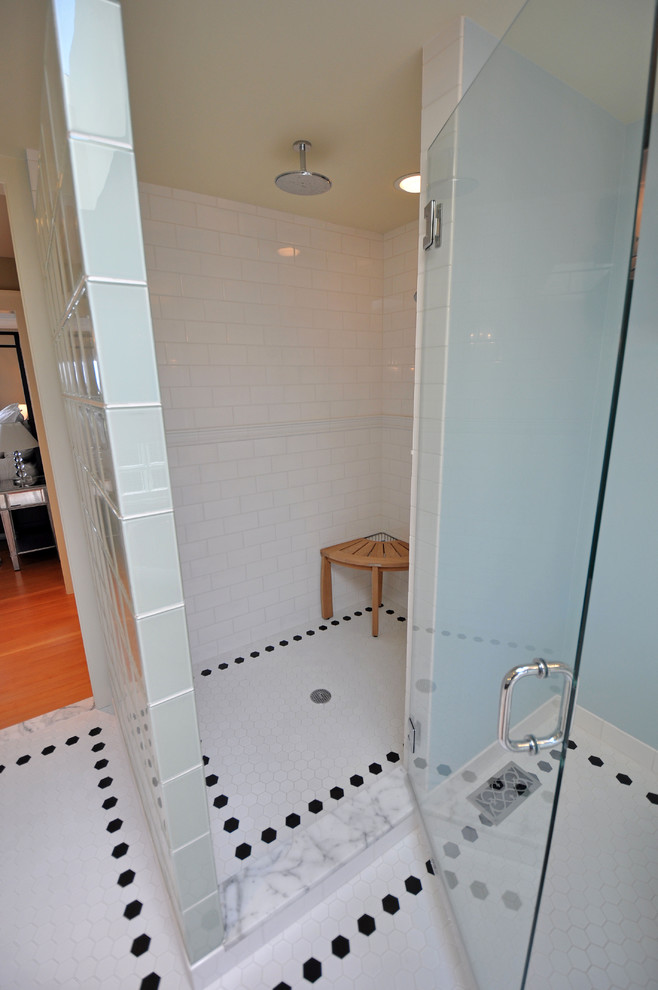 Teak Shower Stool Bathroom Traditional with Categorybathroomstyletraditionallocationseattle