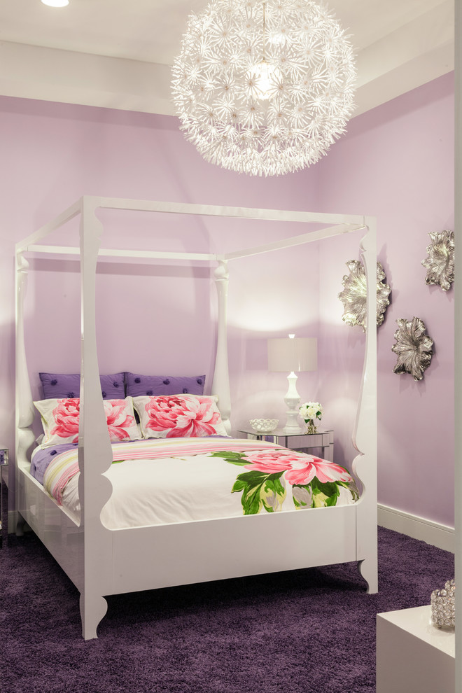 Teen Vogue Bedding Kids Contemporary with Artwork Floral Bedding Four Poster Bed Girls Bedroom Girls Room Globe Pendant
