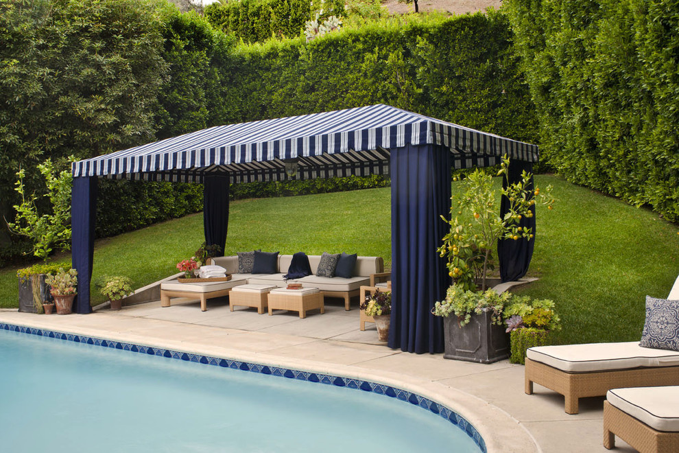 tent canopy pool transitional with cabana grass hedge lawn outdoor cushions patio furniture pool tile potted - Marble Canopy 2015