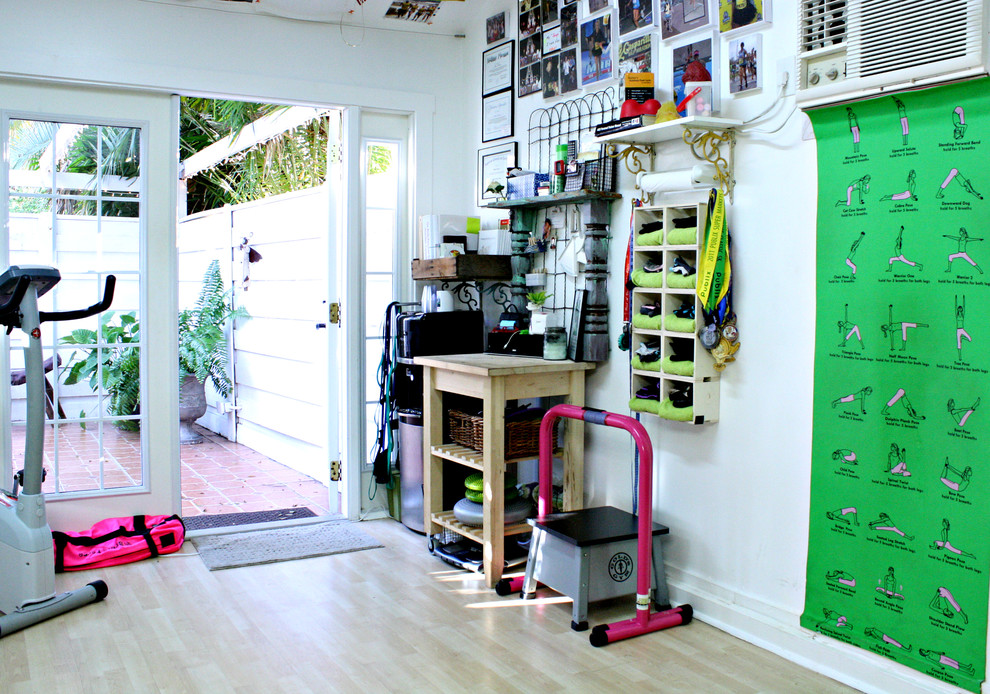 Thick Yoga Mat Home Gym Eclectic with Collection Exercise Equipment My Houzz Patio Doors Photographs Stretching Poster Tile Patio