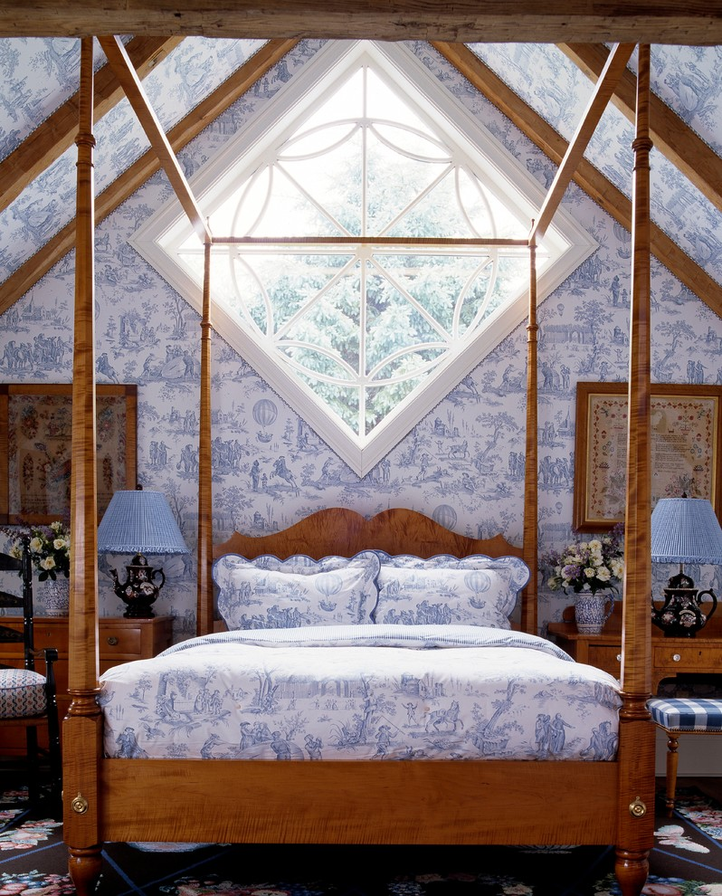 Toile Bedding Bedroom Farmhouse with Antique Blue and White Toile Bedding Blue and White Toile Wallpaper Blue