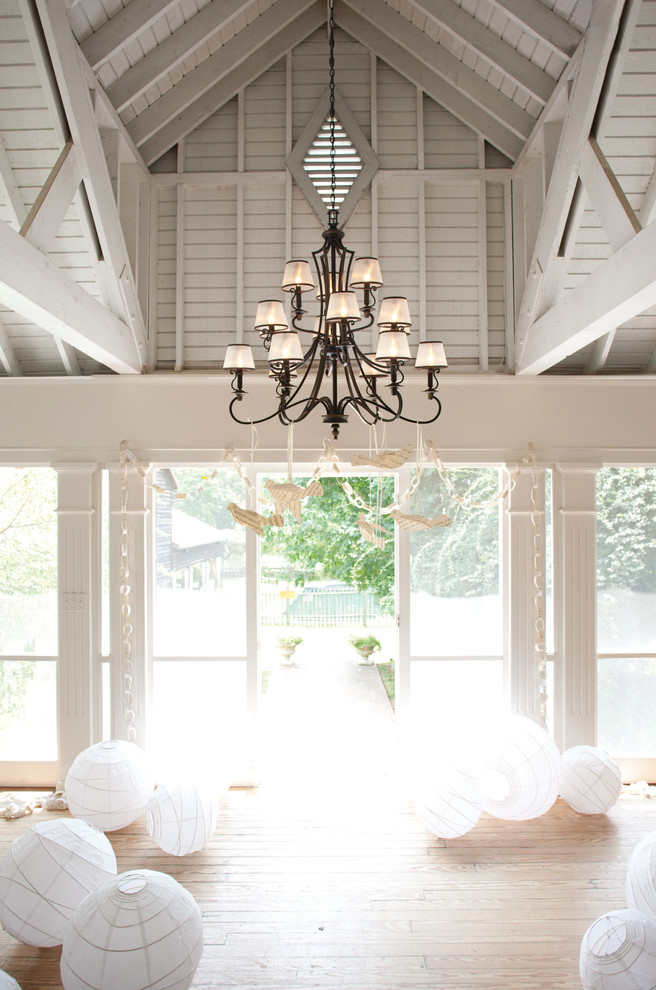 Toile Curtains Living Room Traditional with Hinkley Lighting Chandelier
