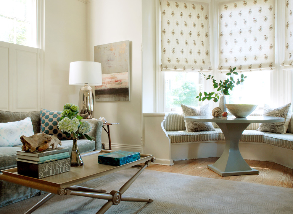 Toilet Brush Holder Family Room Transitional with Bay Window Julian Chichester Linen Velvet Raoul Textiles Window Seat