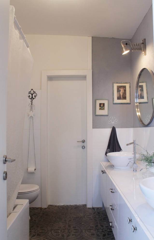 Toilet Roll Holder Bathroom Eclectic with My Houzz