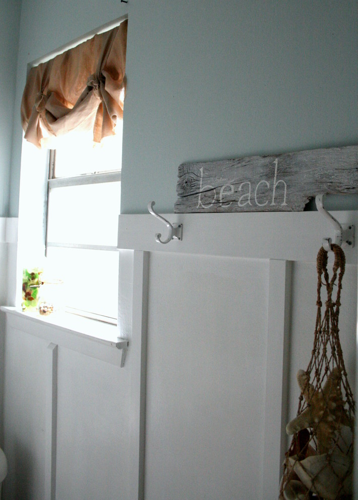 Toiletry Bags Bathroom Beach with Beach Blue Board and Batten Sea Vintage White