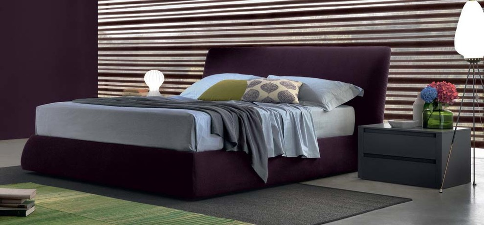 Torchiere Bedroom Contemporary with Bed Fabric Italian Jesse King Leather Queen Storage Base Upholstered