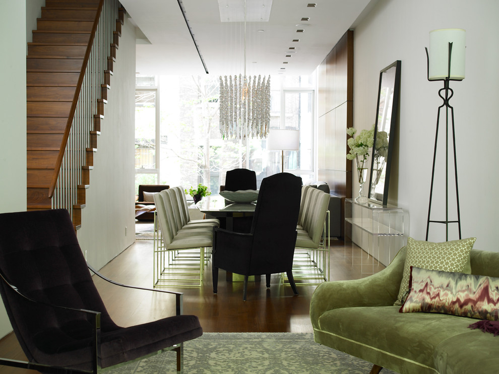 Torchiere Dining Room Contemporary with Contemporary Chandelier Lucite Console Table Open Floor Plan