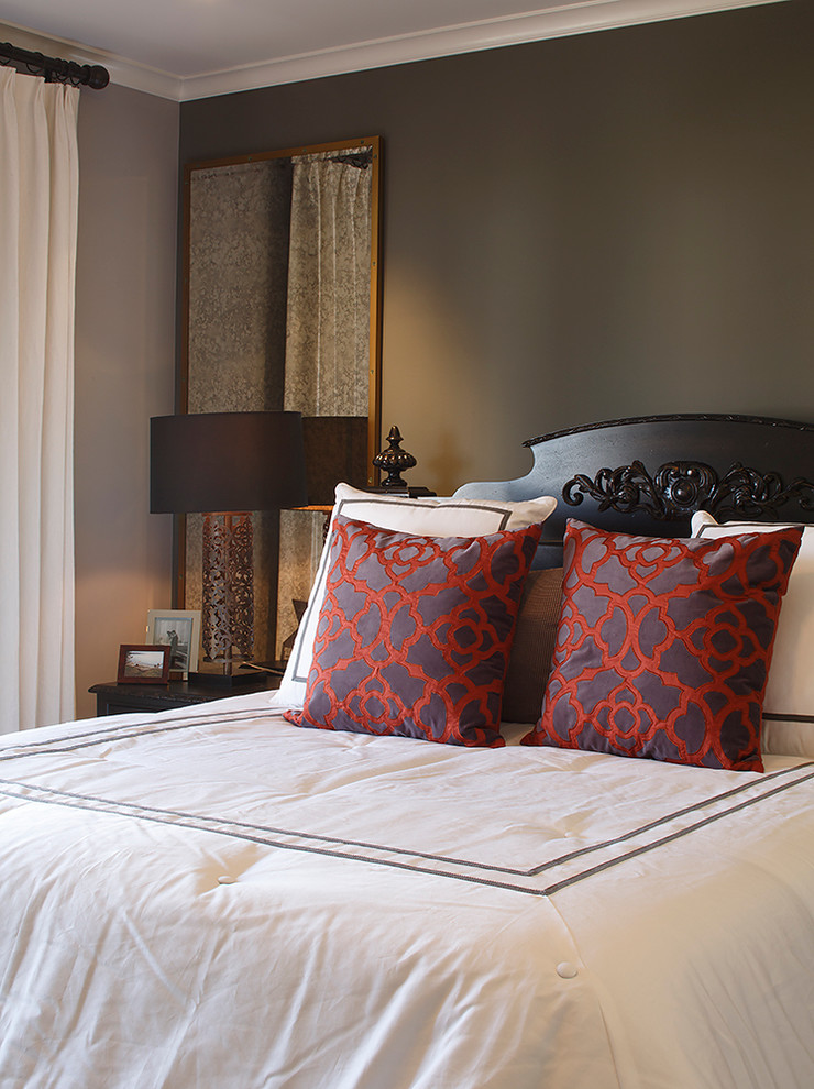 Toss Pillows Bedroom Traditional with Bedroom Bedside Table Black Brown Guest Bedroom Master Bedroom Purple Red Red