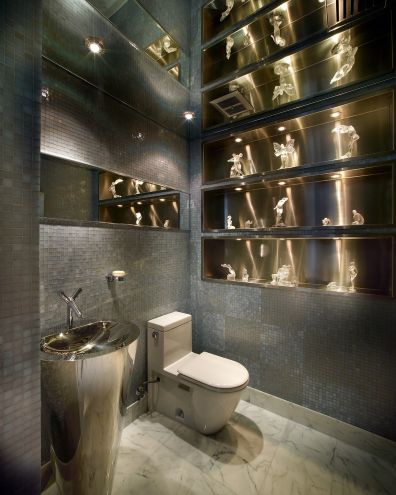 Toto Bidet Powder Room Contemporary with Aventura Brickell Coconut Grove Coral Gables Downtown Fisher Island Ft Lauderdale Golden