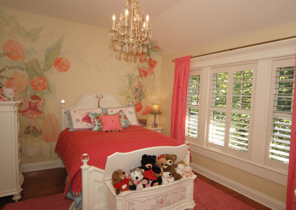 toy chests Kids Traditional with area rug bed pillows Bedroom chandelier curtains drapes foot of the bed