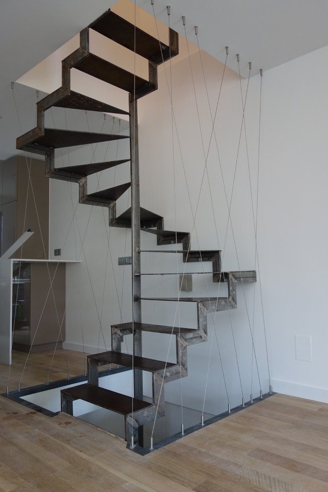 Tpi Corp Staircase Industrial with Cable Partition Cbles Tendus Croisillons Mtal Escalier Arien Escalier en Mtal Escalier
