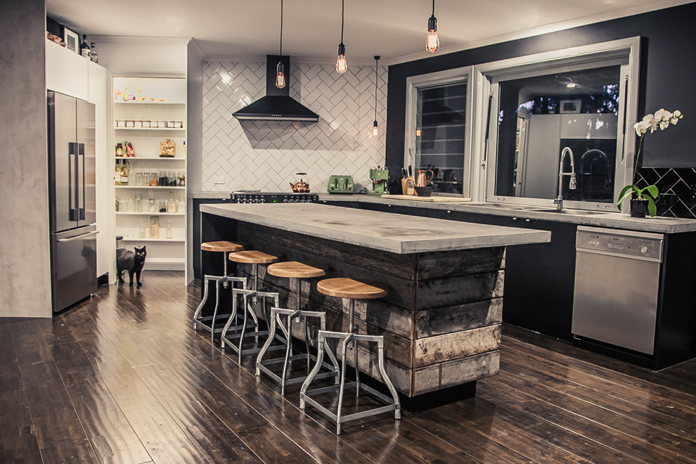 Tractor Seat Bar Stools Kitchen Eclectic with Adrian Ramsay Buderim Dining Room Dj Desk Fire Place Kitchen Living Room