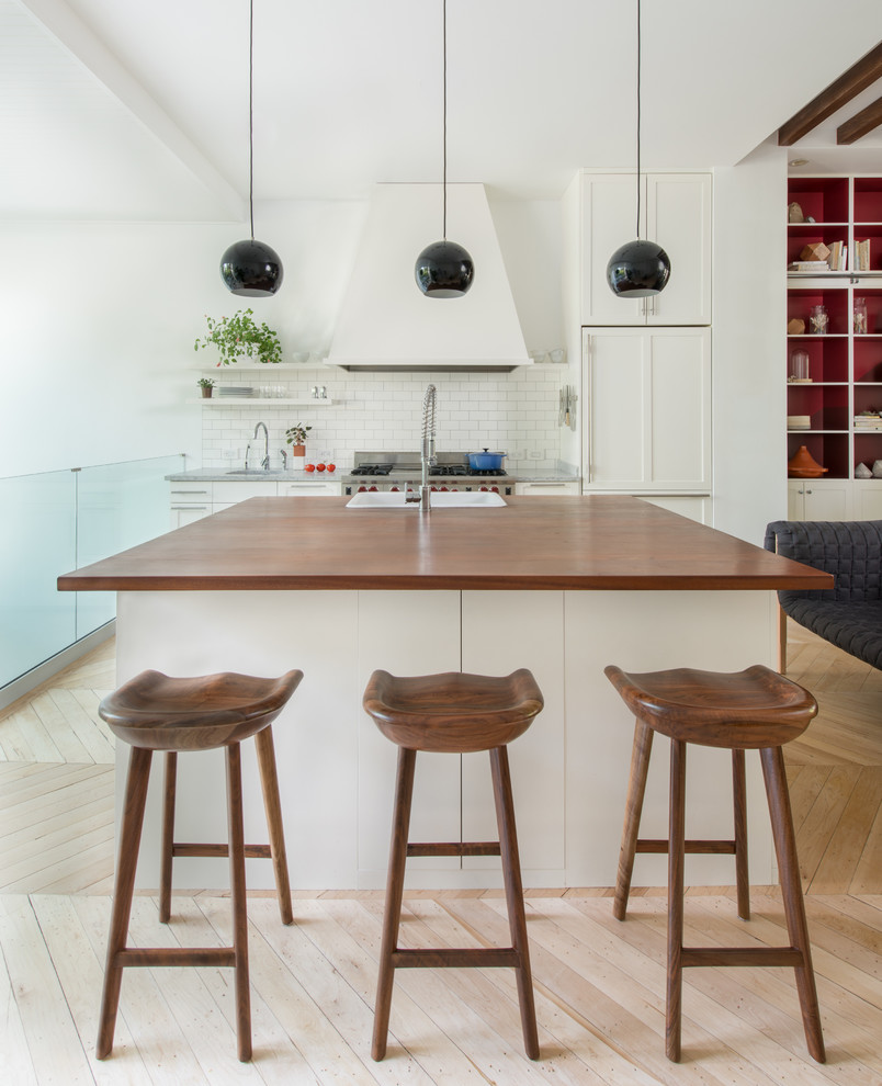 Tractor Seat Stool Kitchen Contemporary with Breakfast Bar Eat in Kitchen Floating Shelves Herringbone Pattern I Shaped Kitchen Island Island