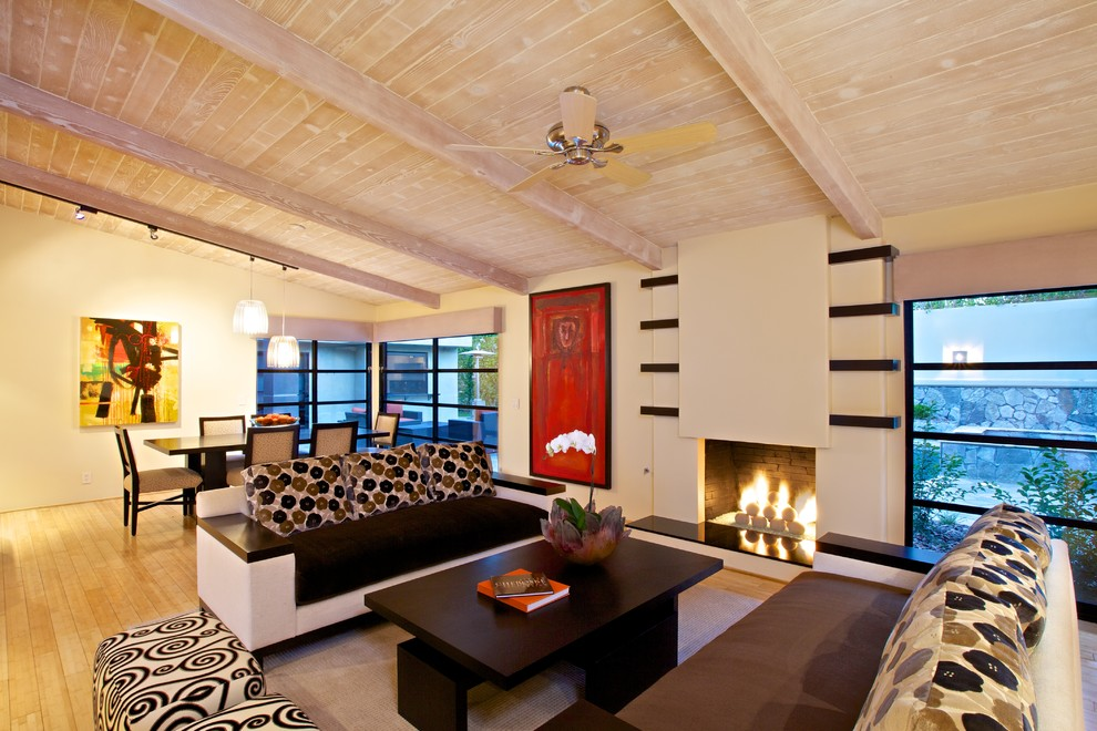 Trellis Designs Living Room Contemporary with Accent Wall Asian Art Asian Inspired Furniture Asymmetrical Bar Area Bath And